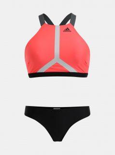 Černo-růžové dámské dvoudílné plavky adidas Performance
