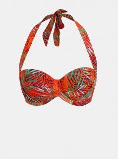 Oranžový dámský vzorovaný horní díl plavek M&Co