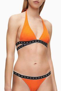 Calvin Klein oranžový horní díl plavek High Apex Triangle-RP Vermillion Orange