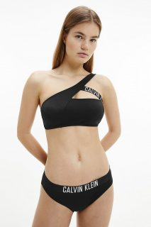 Calvin Klein černý horní díl plavek Cut Out Bralette-RP