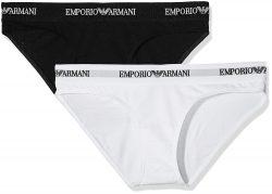 Kalhotky 2pcs 163334 CC317 00911 černobílá – Emporio Armani černo-bílá