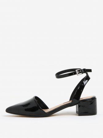 Černé lesklé sandálky na nízkém podpatku Dorothy Perkins - Dámské ... 91d21eeaa3