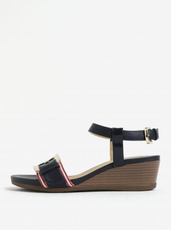 Modré sandály na klínku Geox Mary Karmen - Dámské sandály 2c52f932f3