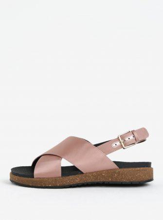 fa3d1f16eba Starorůžové dámské metalické sandály Woden Sille - Dámské sandály