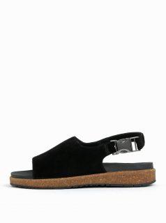 Černé dámské semišové sandály Woden Stella