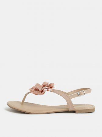 47628cc8a11 Starorůžové sandály s aplikací ve tvaru květiny Dorothy Perkins ...