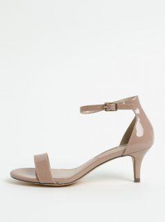 Béžové sandálky na jehlovém podpatku Dorothy Perkins