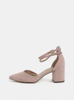 Růžové sandálky v semišové úpravě Dorothy Perkins
