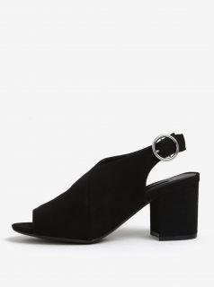 Černé sandálky na širokém podpatku Dorothy Perkins