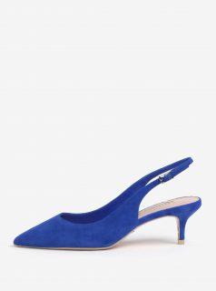 Modré semišové sandálky s otevřenou patou Dune London Casandra