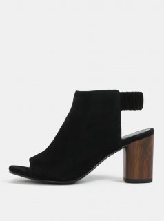 Černé dámské semišové sandálky na podpatku Vagabond Carol