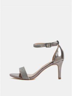 Růžové metalické sandálky na vysokém podpatku Dorothy Perkins