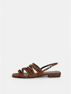 Hnědé dámské semišové sandály Vagabond Becky