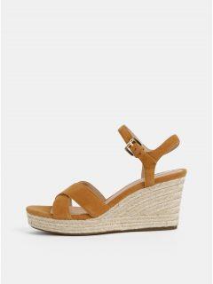 Hnědé dámské semišové sandálky Geox Soleil