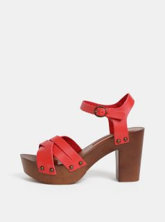 Červené sandály Dorothy Perkins