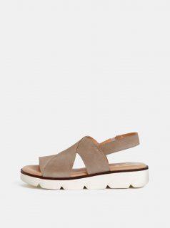 Béžové semišové sandály OJJU