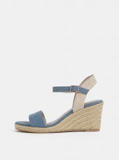 Modré sandálky na klínku Tamaris