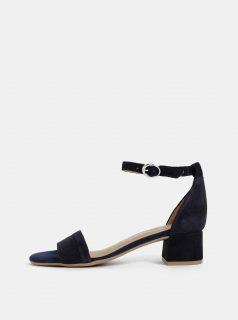 Tmavě modré semišové sandálky Tamaris