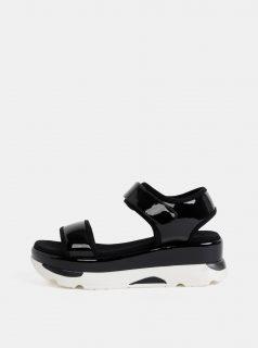 Černé dámské lesklé sandály na platformě Haily´s Vegas