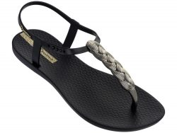 Ipanema černé sandály Charm VI Black/Gold