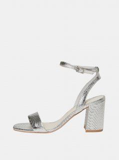 Sandálky s hadím vzorem ve stříbrné barvě VERO MODA Liva