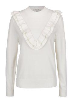Krémový svetr s volány Selected Femme Addi