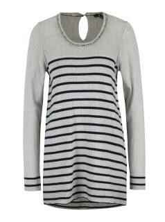 Modro-šedý pruhovaný svetr Yest