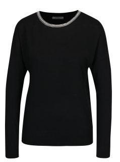 Černý svetr s aplikací ve výstřihu Haily´s Shila