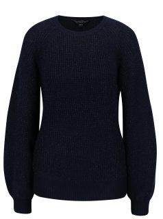 Tmavě modrý třpytivý zimní svetr Dorothy Perkins