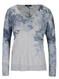 Světle šedý lehký vzorovaný svetr Yest