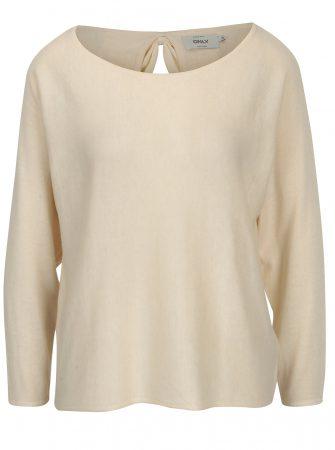 Béžový lehký svetr s mašlí na zádech ONLY Sophina - Dámské svetry bb09972893