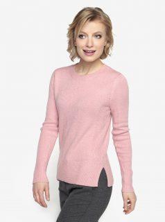 Růžový svetr s kulatým výstřihem Oasis The perfect