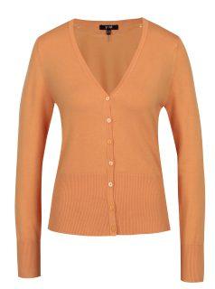 Oranžový krátký kardigan Yest