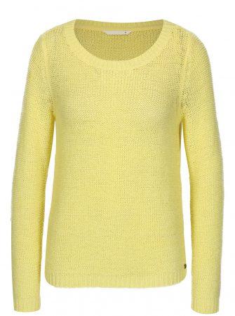 Žlutý průsvitný pletený svetr ONLY Geena - Dámské svetry 3cd77bc87f