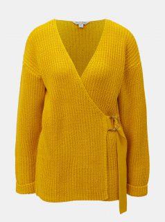 Oranžový svetr s překládaným předním dílem Miss Selfridge