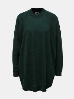 Zelený oversize vlněný svetr Selected Femme