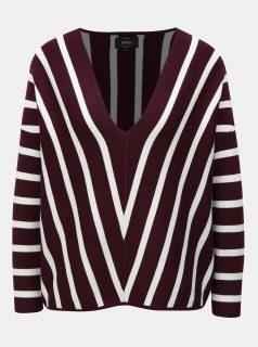 Fialový pruhovaný svetr ONLY Aya