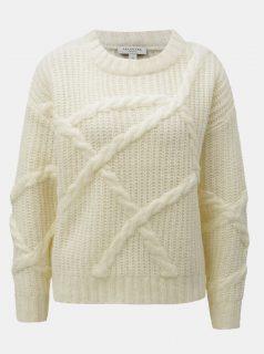 Krémová krátký oversize svetr Selected Femme