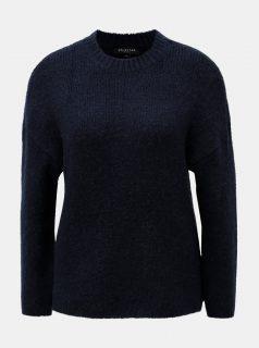 Modrý svetr s příměsí vlny a alpaky Selected Femme Regina