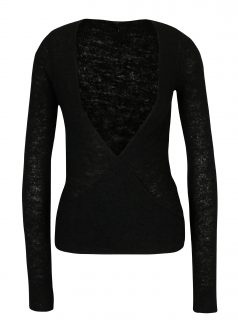 Černý zavinovací svetr DEHA