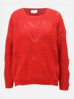 Červený oversize svetr s dlouhým rukávem ONLY Havana
