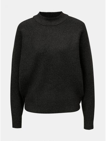 Tmavě šedý volný svetr s netopýřími rukávy Apricot - Dámské svetry aa26f4ab80