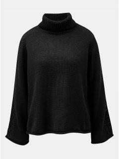 Černý volný svetr s rolákem Jacqueline de Yong Linky