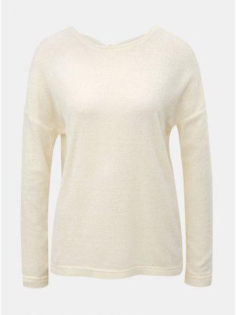 Krémový lehký svetr s mašlí za krkem ONLY Star - Dámské svetry a8d1c8c197