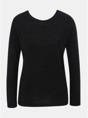 Černý lehký svetr s mašlí za krkem ONLY Star - Dámské svetry 313f39c941