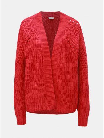 Červený kardigan s příměsí vlny VILA Cabla - Dámské svetry b77d698413
