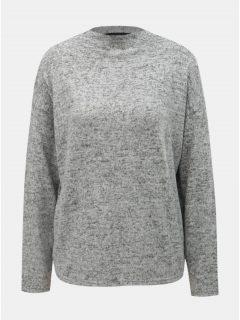 Světle šedý žíhaný volný svetr VERO MODA Mai Royanna