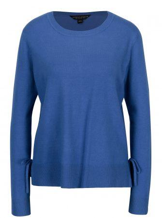 Modrý svetr s mašlí na bocích Dorothy Perkins - Dámské svetry fdaed202d9