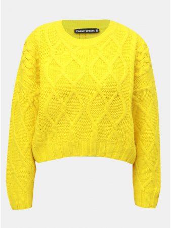 Žlutý svetr s dlouhým rukávem TALLY WEiJL - Dámské svetry 77ca7d67a4