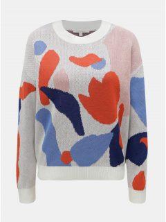 616f0963227 Bílý dámský pletený svetr s véčkovým výstřihem GANT - Dámské svetry